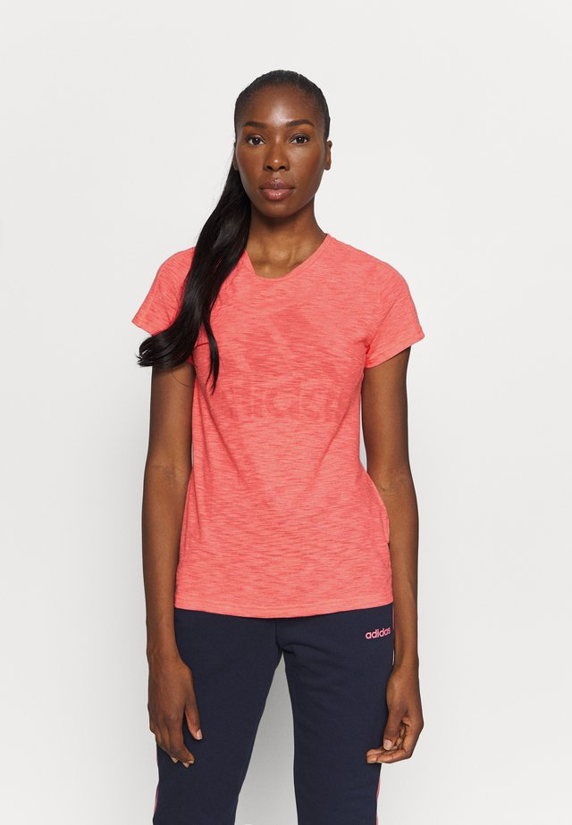 WINNERS TEE - Print T-shirt - coral