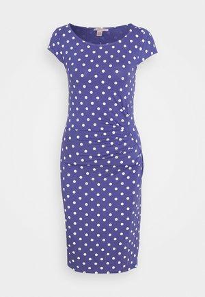 Sukienka etui - white/blue