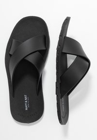 Matt & Nat - VEGAN LORENA - Pool slides - black - 3