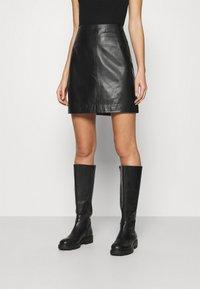 JUST FEMALE - MOON SKIRT - A-line skirt - black - 0