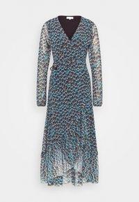 NATASJA FRILL DRESS - Day dress - dusty blue/taupe