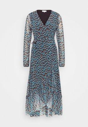 NATASJA FRILL DRESS - Kjole - dusty blue/taupe