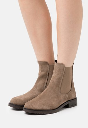 LEATHER - Classic ankle boots - taupe
