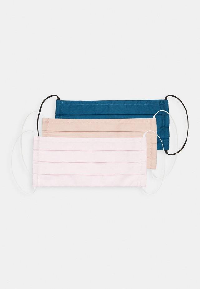 3 PACK - Stoffen mondkapje - pink /nude/dark blue