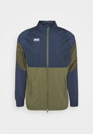 Chaqueta de entrenamiento - medium olive/thunder blue/clear