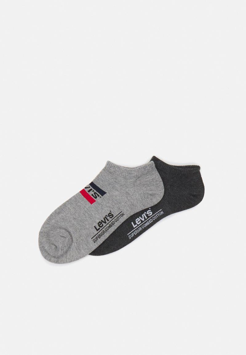 Levi's® - LOW CUT LOGO 2 PACK UNISEX - Socks - middle grey melange/anthracite