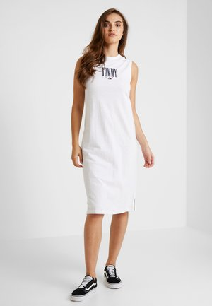EMBROIDERY TANK DRESS - Jersey dress - classic white