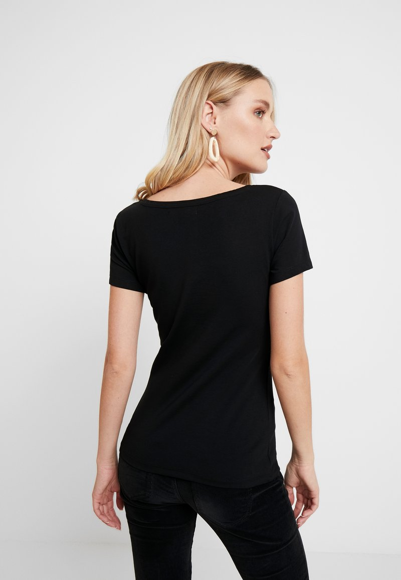 Anna Field 2 PACK - T-Shirt basic - black/schwarz cjmkot