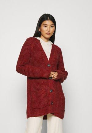 MOULINE YARN - Cardigan - dark maroon red