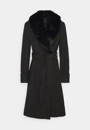 BELT COAT - Classic coat - black