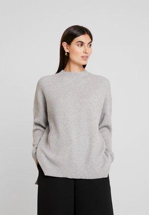 CUOLIVIA  - Stickad tröja - light grey melange