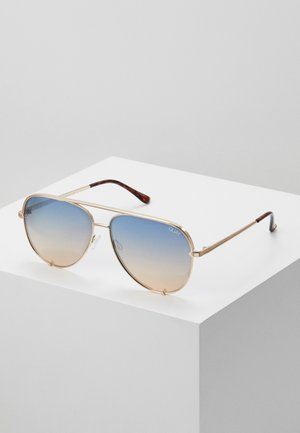 HIGH KEY - Sunglasses - gold-coloured/blue/orange