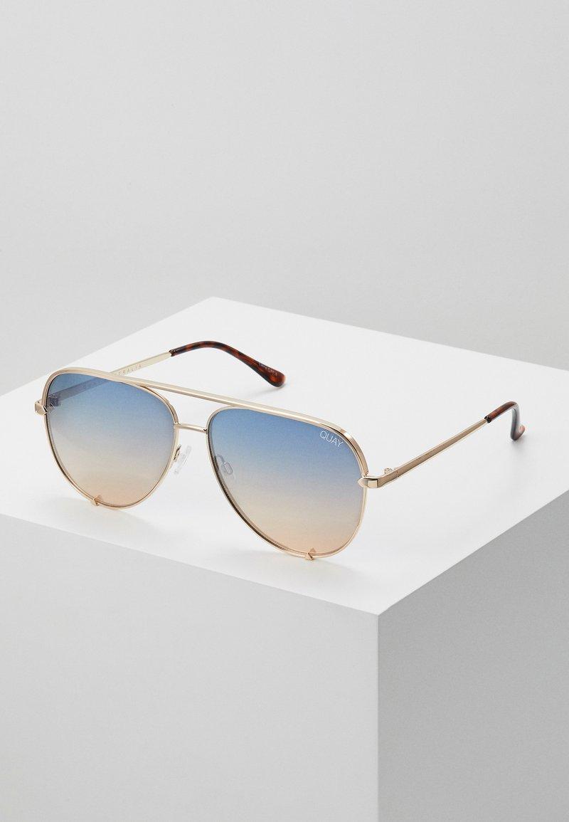QUAY AUSTRALIA - HIGH KEY - Sunglasses - gold-coloured/blue/orange