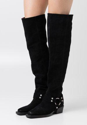 NO SCENE - Stivali sopra il ginocchio - black