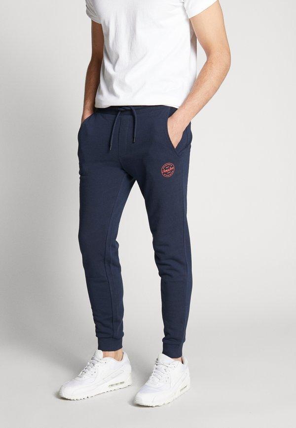 Jack & Jones JJIGORDON - Spodnie treningowe - navy blazer/niebieski melanż Odzież Męska DTYH