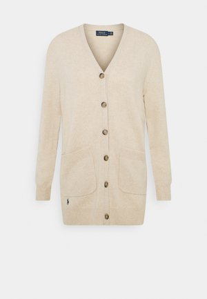 CARDIGAN LONG SLEEVE - Strikjakke /Cardigans - tallow cream