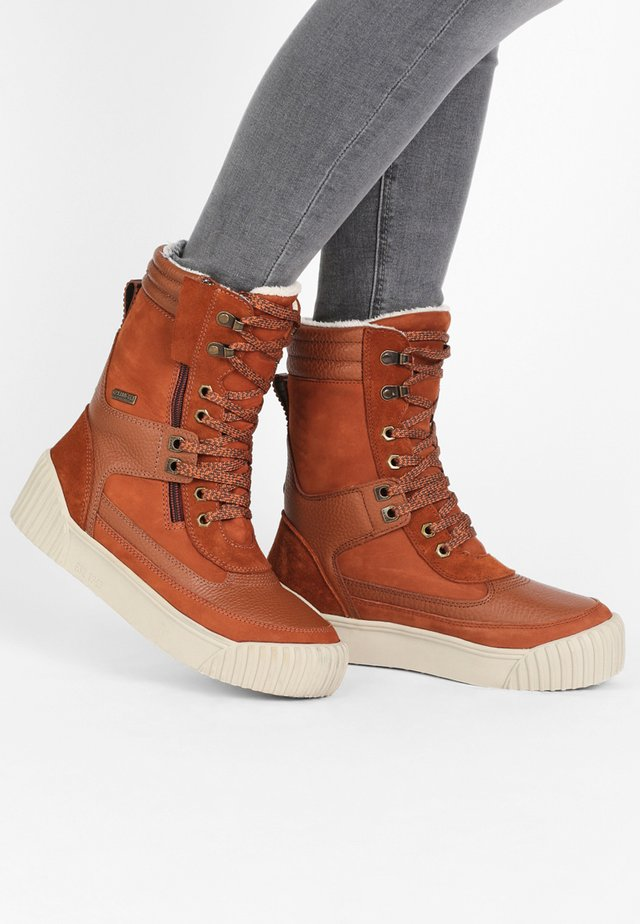 ROYA - Winter boots - cognac