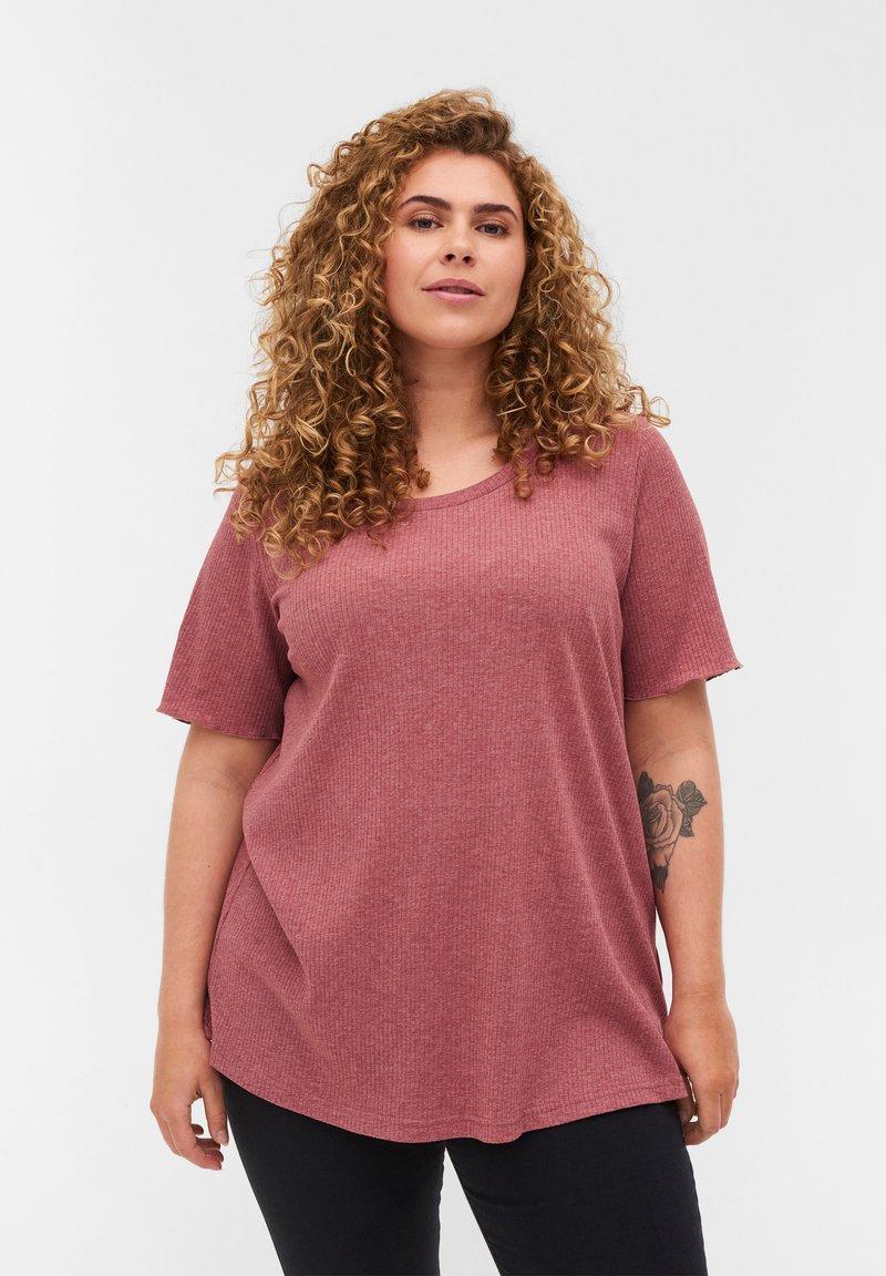 Zizzi - Basic T-shirt - apple butter