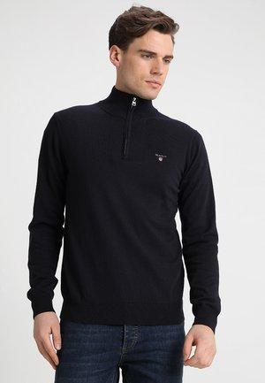 ZIP - Stickad tröja - navy