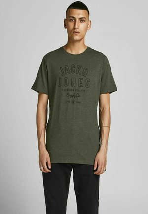 JJEJEANS TEE O NECK - T-shirt med print - forest night