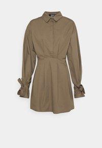 Missguided - TIE CUFF BALLOON SKATER - Shirt dress - khaki - 0