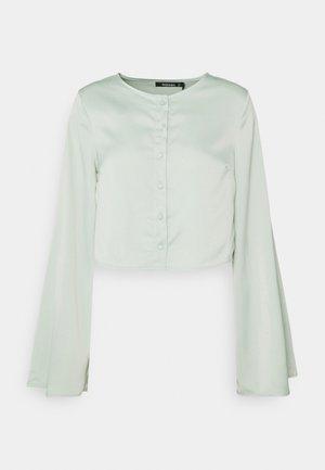 BUTTON THROUGH BLOUSE - Blusa - mint