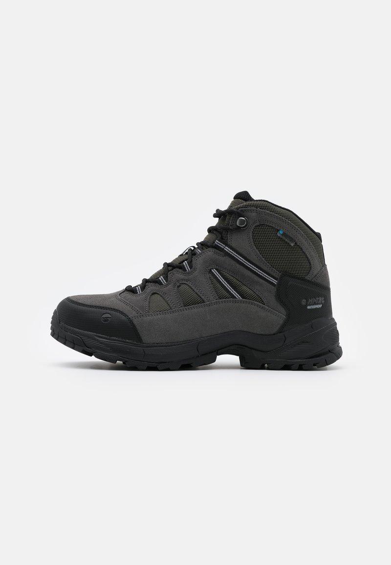 Hi-Tec - BANDERA LITE MID WP - Chaussures de marche - olive night/black/charcoal/cool grey