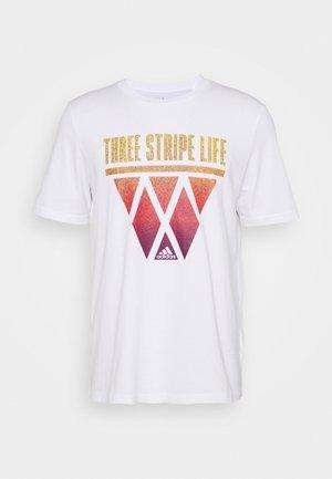 HOOPS - Print T-shirt - white