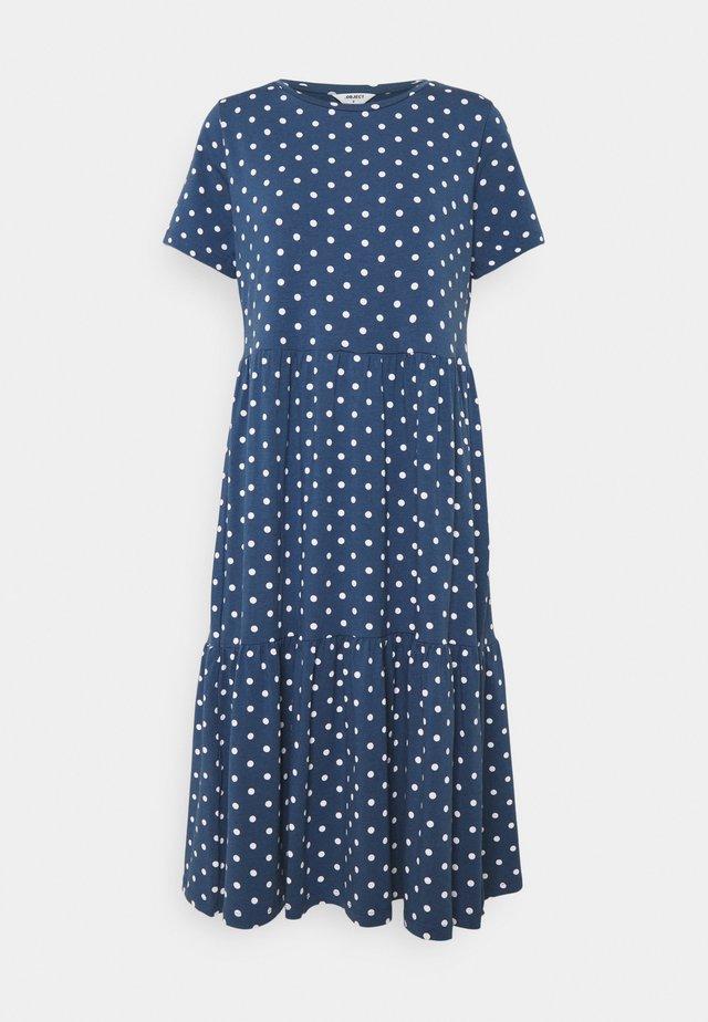 OBJSTEPHANIE DRESS - Vapaa-ajan mekko - ensign blue/white