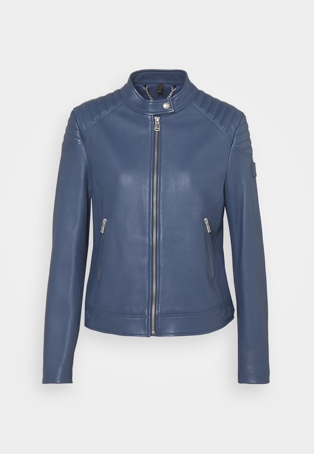 NEW MOLLISON JACKET - Lederjacke - racing blue