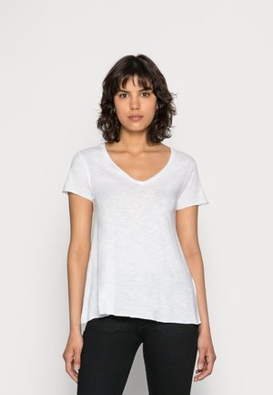 JACKSONVILLE V NECK TEE - Camiseta básica - blanc