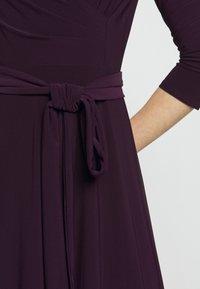 Lauren Ralph Lauren - MID WEIGHT DRESS - Trikoomekko - raisin - 7