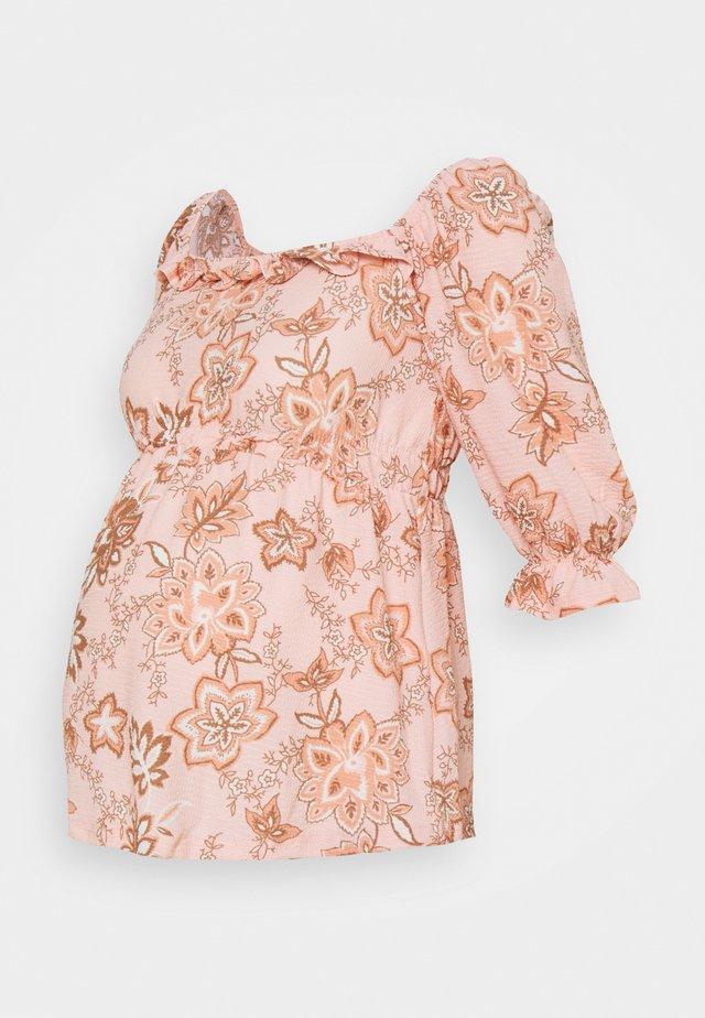 PAISLEY SQUARE NECK  - Långärmad tröja - blush