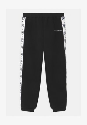 TAPE - Tracksuit bottoms - black