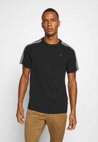 G-Star - SPORT TAPE LOGO + R T S\S - T-shirt print - black - 0