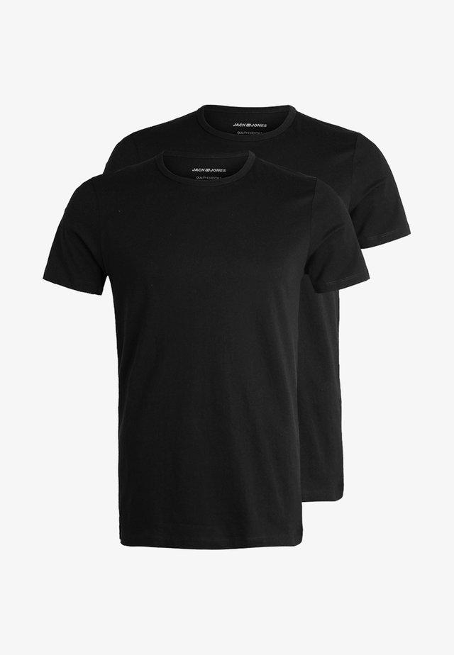 JACBASIC CREW NECK TEE 2 PACK  - Maglietta intima - black
