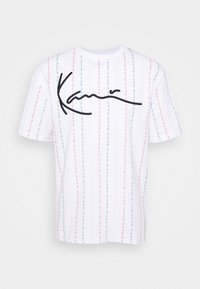 Karl Kani - UNISEX SIGNATURE LOGO TEE - Print T-shirt - white - 3