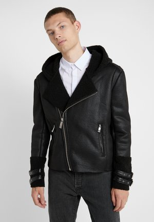 JACKET JARVIS - Faux leather jacket - black