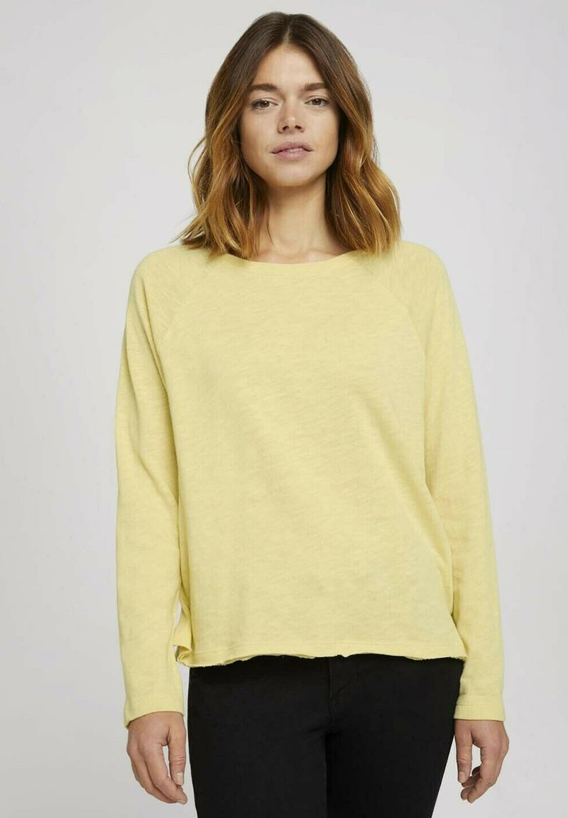 TOM TAILOR DENIM - Long sleeved top - soft yellow