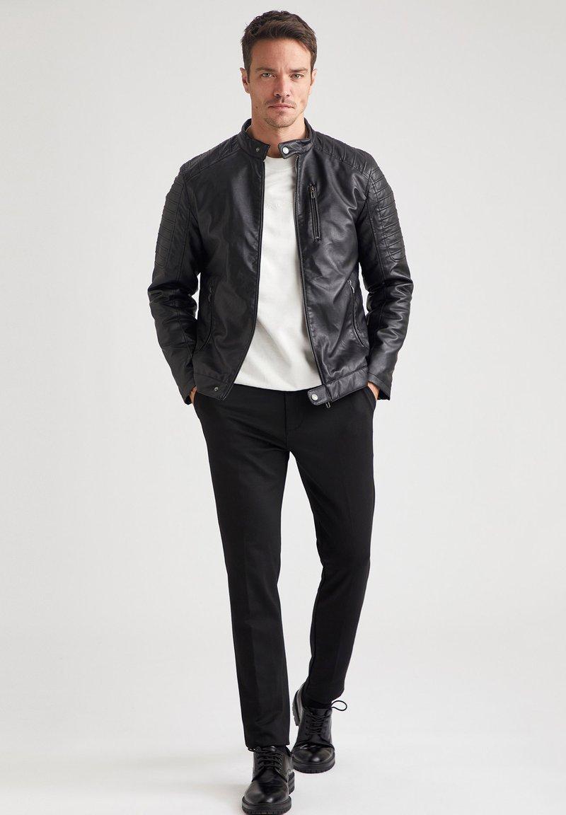 DeFacto - Faux leather jacket - black