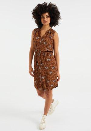 MET DESSIN - Shirt dress - brown