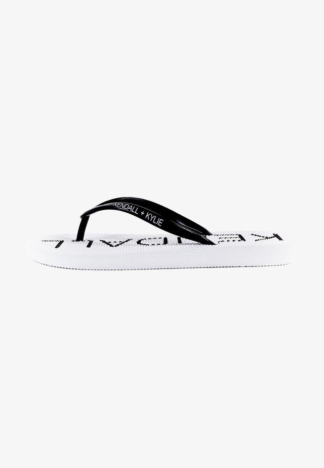 Sandalias de dedo - black/white