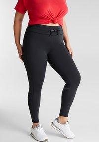 Esprit Sports - CURVY - Leggings - black - 0