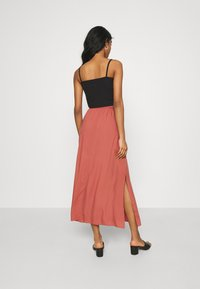 Vero Moda - VMSIMPLY EASY SKIRT - Jupe longue - marsala - 2