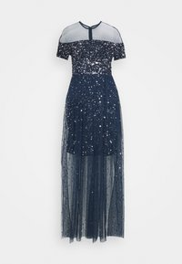Maya Deluxe - ALL OVER EMBELLISHED MAXI DRESS WITH MINI LINING - Occasion wear - navy - 4