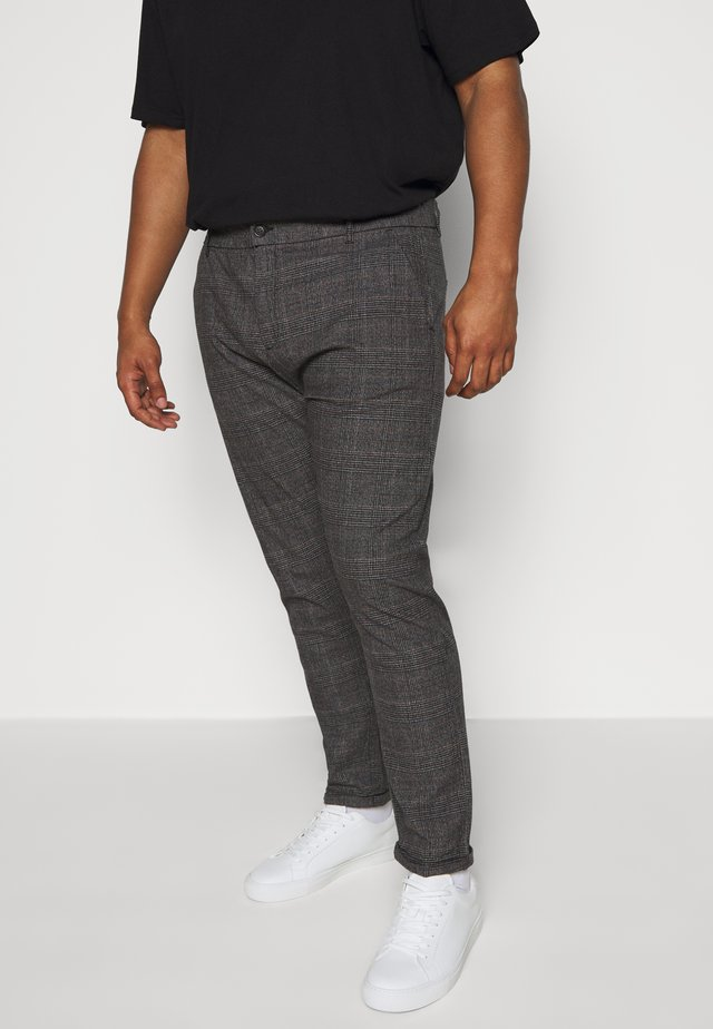CHECKED CLUB PANTS - Trousers - dark grey