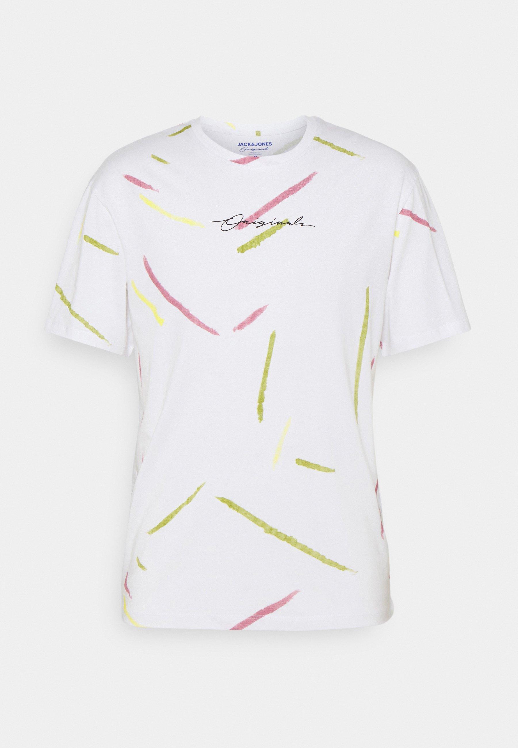Men JORSWIRL TEE CREW NECK - Print T-shirt