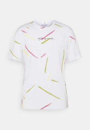 JORSWIRL TEE CREW NECK - T-shirt med print - bright white