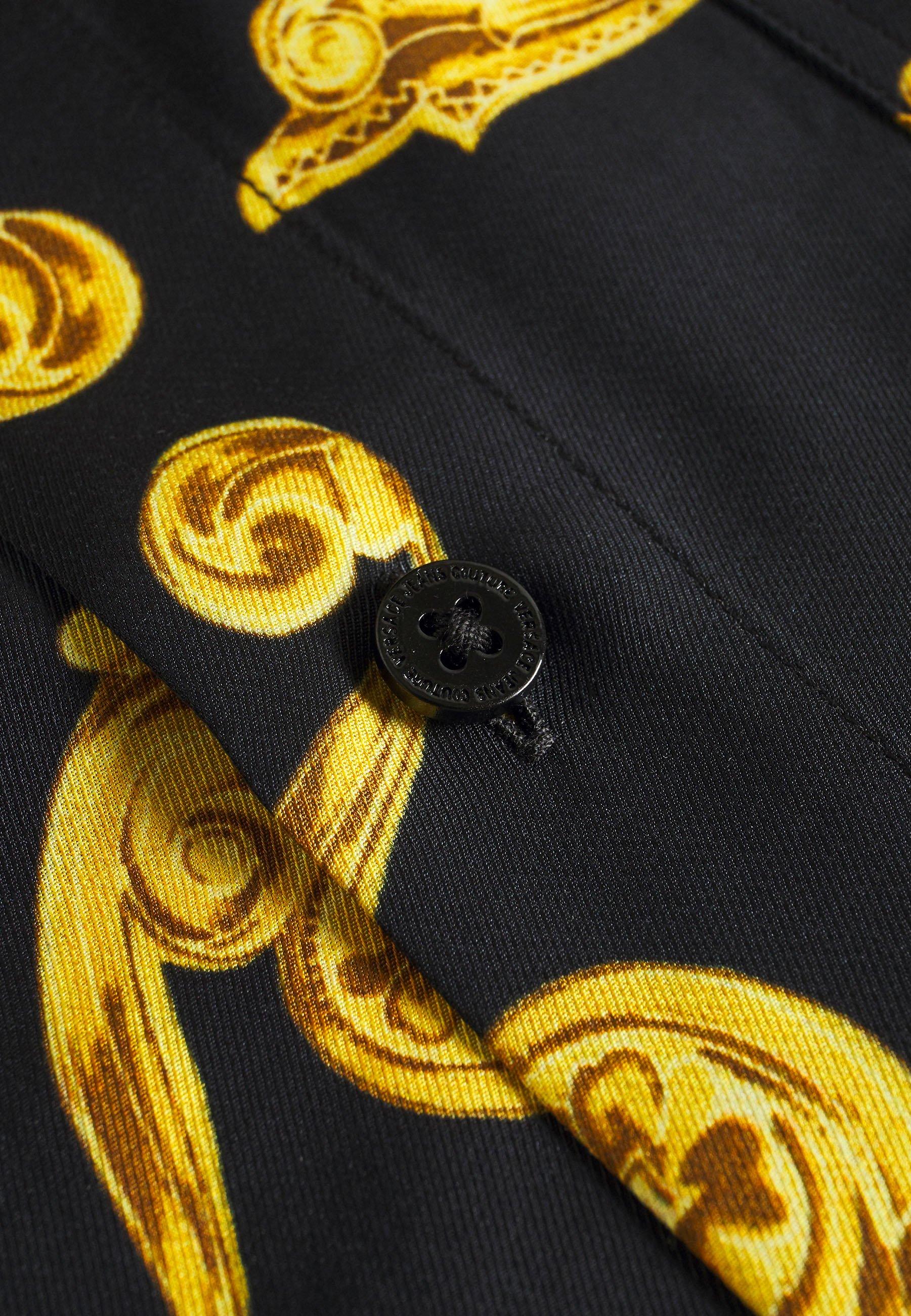Alkuperäinen Miesten vaatteet Sarja dfKJIUp97454sfGHYHD Versace Jeans Couture PRINT  Vapaa-ajan kauluspaita black