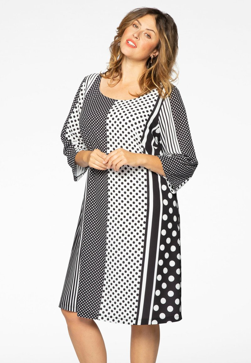 Yoek - Day dress - black/white